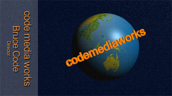 CodeMediaWorks' Business Card - Front View
