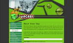 Mini Screen Shot of the Wasabi (City of Wodonga Youth Services) Web Site